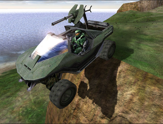 warthog off cliff